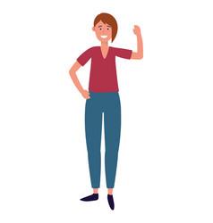 woman avatar cartoon character vector image
