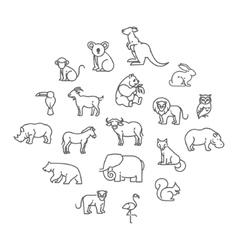 Animal icons zoo icons animals vector