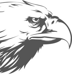 Eagle Head Side View Silhouette vector image vector image
