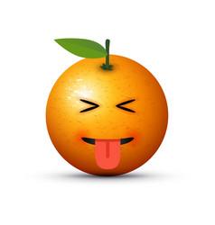 eyes closed tongue out emoji vector image