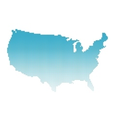 Halftone map of USA vector image vector image