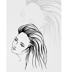 outline portrait vector image vector image