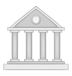 Roman colonnade icon gray monochrome style vector image