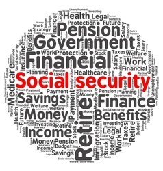 Social security word cloud vector image