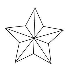 star american independence nation symbol line vector image