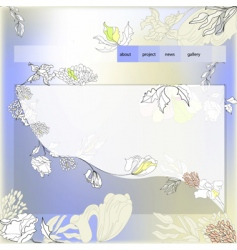 template for website vector image