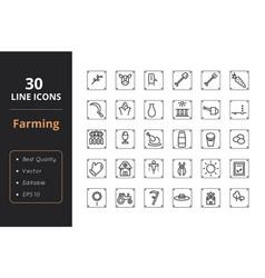 30 farmer line icon vector image