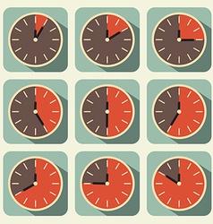 Clock - Time Countdown Set vector image