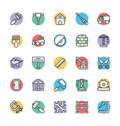 Construction Cool Icons 1 vector image vector image