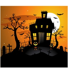 haunted house background vector image vector image