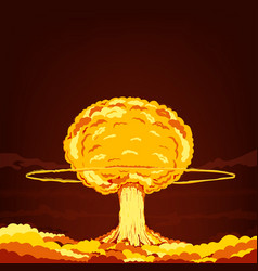 nuclear explosion cartoon vector image