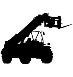 telescopic handler silhouette vector image