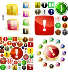 vector attention buttons vector image