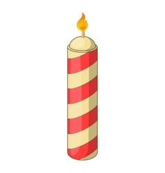 Color candle icon cartoon style vector image vector image