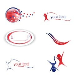 different design set of icons and symbols vector image
