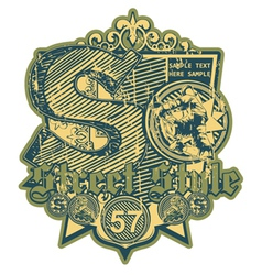 grunge urban label vector image vector image