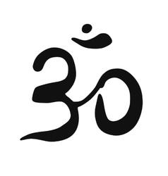 Ohm symbol on white background vector image