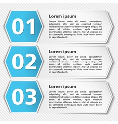 Papper Banners with Numbers vector image vector image