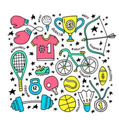 sport clipart elements vector image vector image