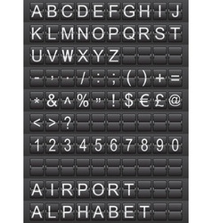airport alphabet vector image