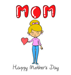character mother for mother day vector image vector image