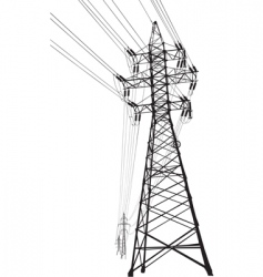 high voltage power line vector image vector image