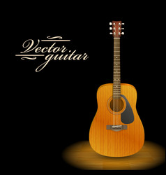 music concept acoustic guitar vector image
