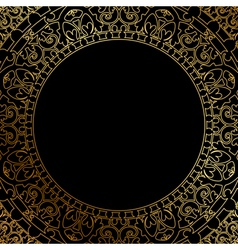 oriental ornament on black background vector image vector image