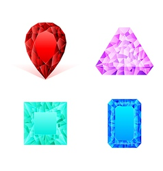 Set of diamonds vector image