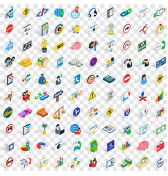 100 usable icons set isometric 3d style vector