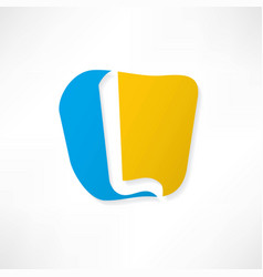 abstract icon based on the letter l vector image