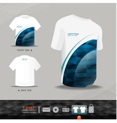 Abstract uniform t-shirt design vector image