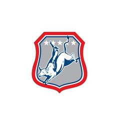 American Rodeo Cowboy Bull Riding Cartoon vector image