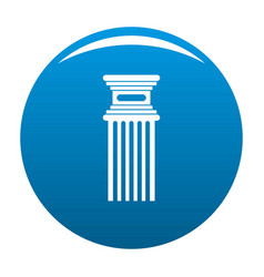 Antique column icon blue vector