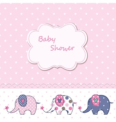 Babackground with cute elephant vector