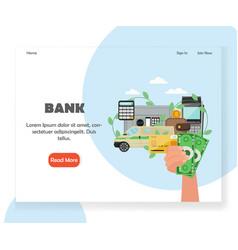 bank website landing page design template vector image