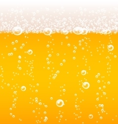 Beer texture with bubbles and foam vector image