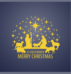 birth christ scene vector image