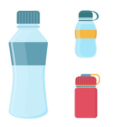 blank plastic bottle for water vector image