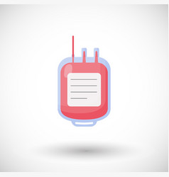 blood bag flat icon set vector image