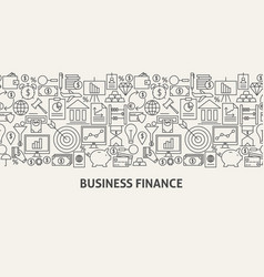 business finance banner concept vector image