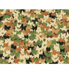 butterfly camouflage vector image vector image