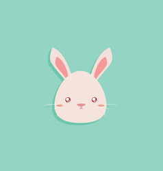 cartoon rabbit face vector image