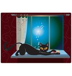 Cat on the Window vector image