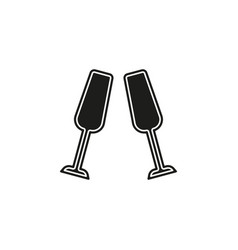 champagne bottle icon - drink alcohol symbol vector image