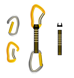 Climbing equipment set vector