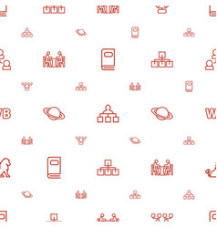 Company icons pattern seamless white background vector