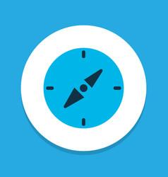 compass icon colored symbol premium quality vector image