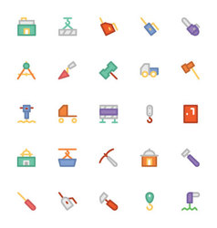 Construction Icons 7 vector image