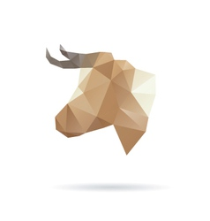 Cow head abstract isolated vector image